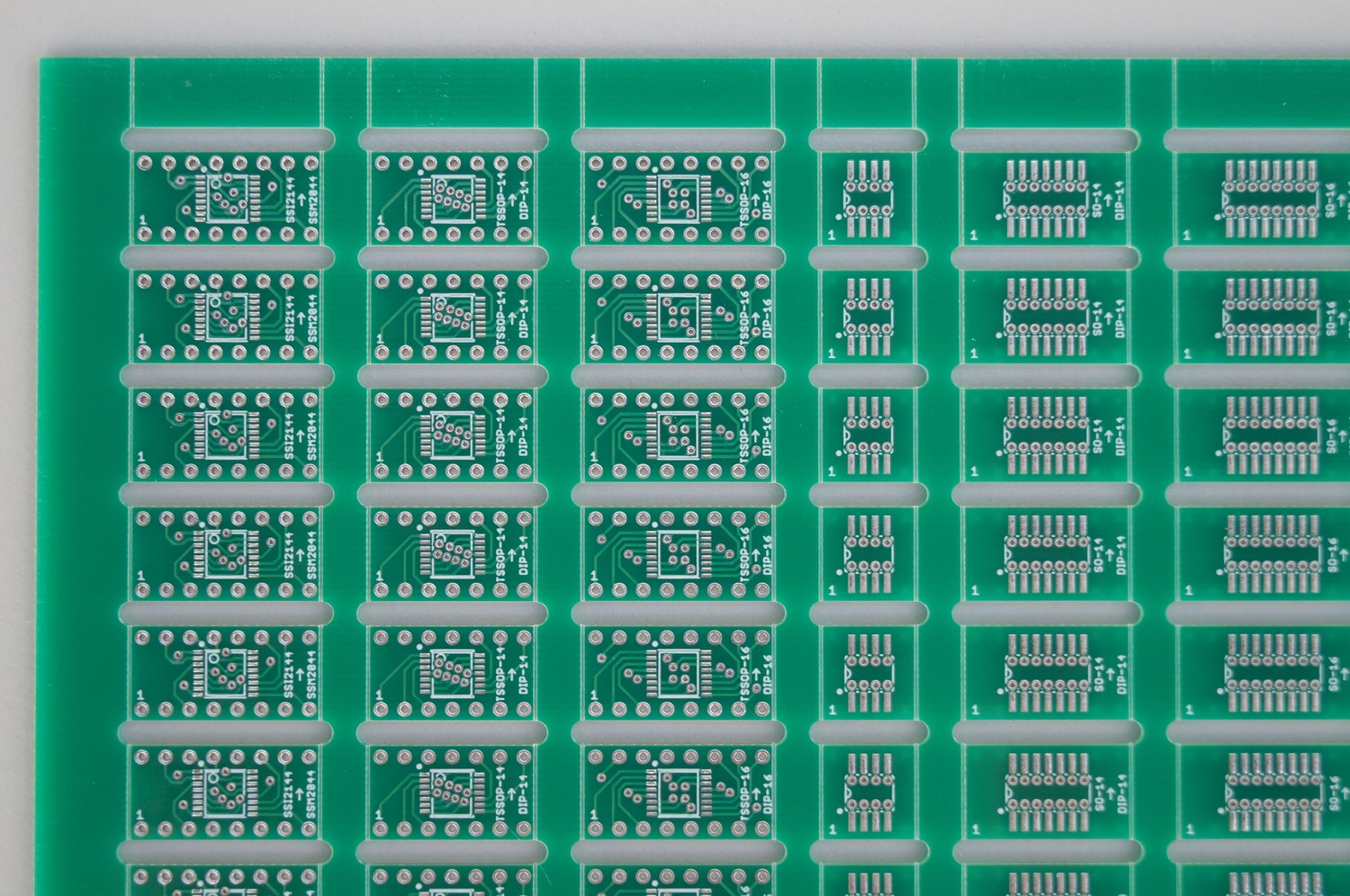 Panelized Adapter Pcbs Smd To Dip Sip For Synthesizer Techs Diy Sot 23 Adapters Polysix Switch 03